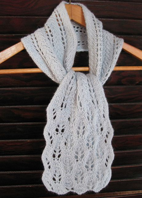 Ravelry: Winter Leaves Lace Scarf pattern by Laura Wick | Free ...