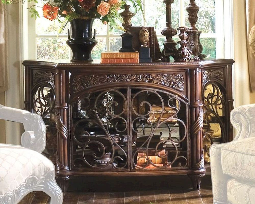 Aico console table essex manor ai n76260 57 fireplace aico console table essex manor ai n76260 57 geotapseo Image collections