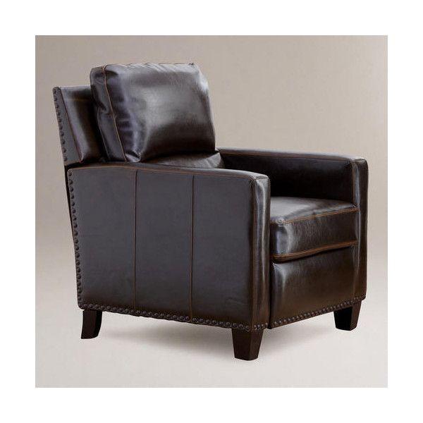 Wonderful Barrington Bi Cast Leather Recliner   World Market ($600) Found On Polyvore