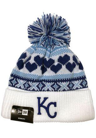 low priced 143c9 3e048 New Era KC Royals White Winter Cutie Knit Hat | MLB - Kansas ...
