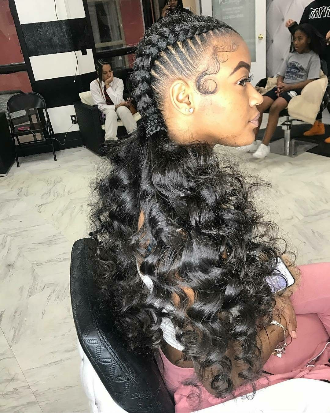 Best two braided hairstyle   Natural hair styles, Braided ...