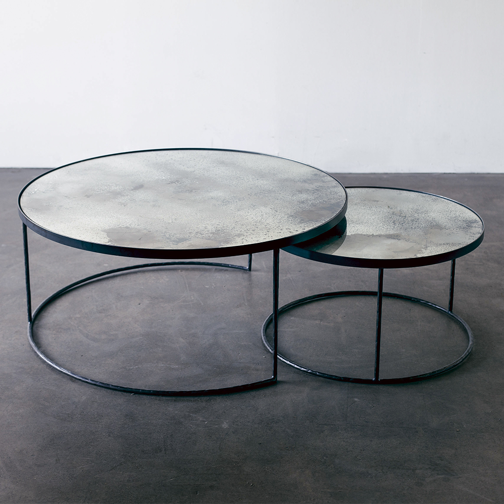 Aged Mirror Nesting Coffee Table Set In 2021 Nesting Coffee Tables Coffee Table Setting Coffee Table [ 1000 x 1000 Pixel ]