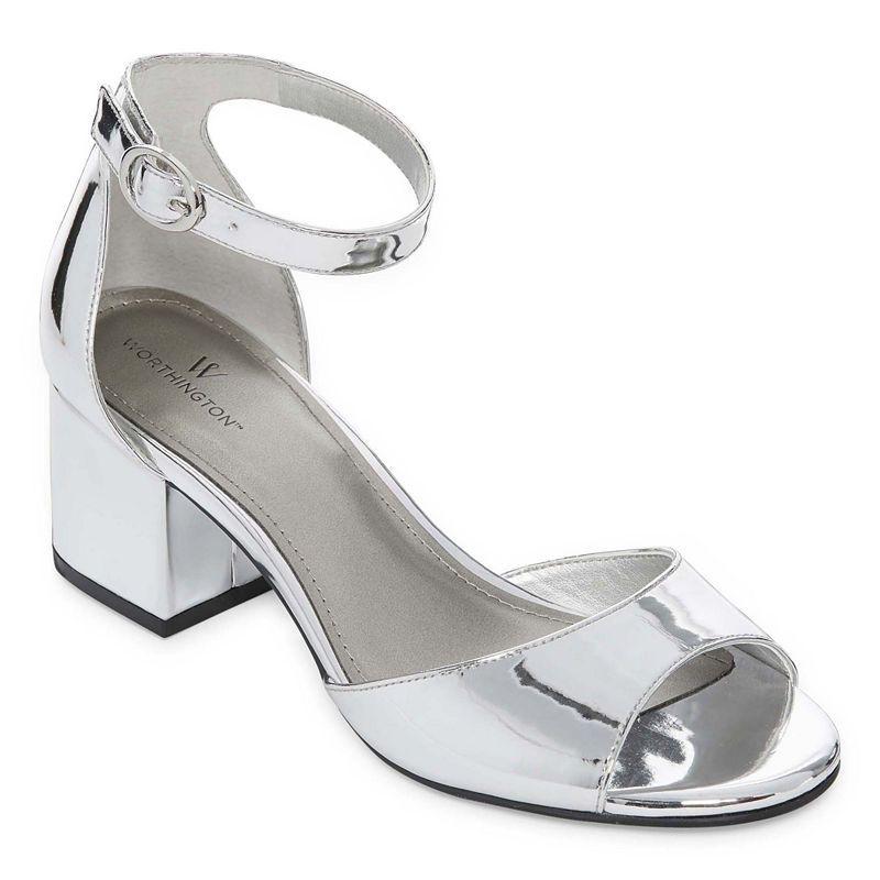 62462093e928 Worthington Ischia Womens Pumps Buckle Open Toe Block Heel Heeled Sandals
