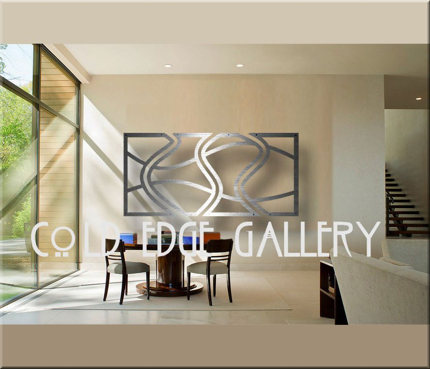 Cold edge gallery large metal wall art abstract contemporary brushed aluminum