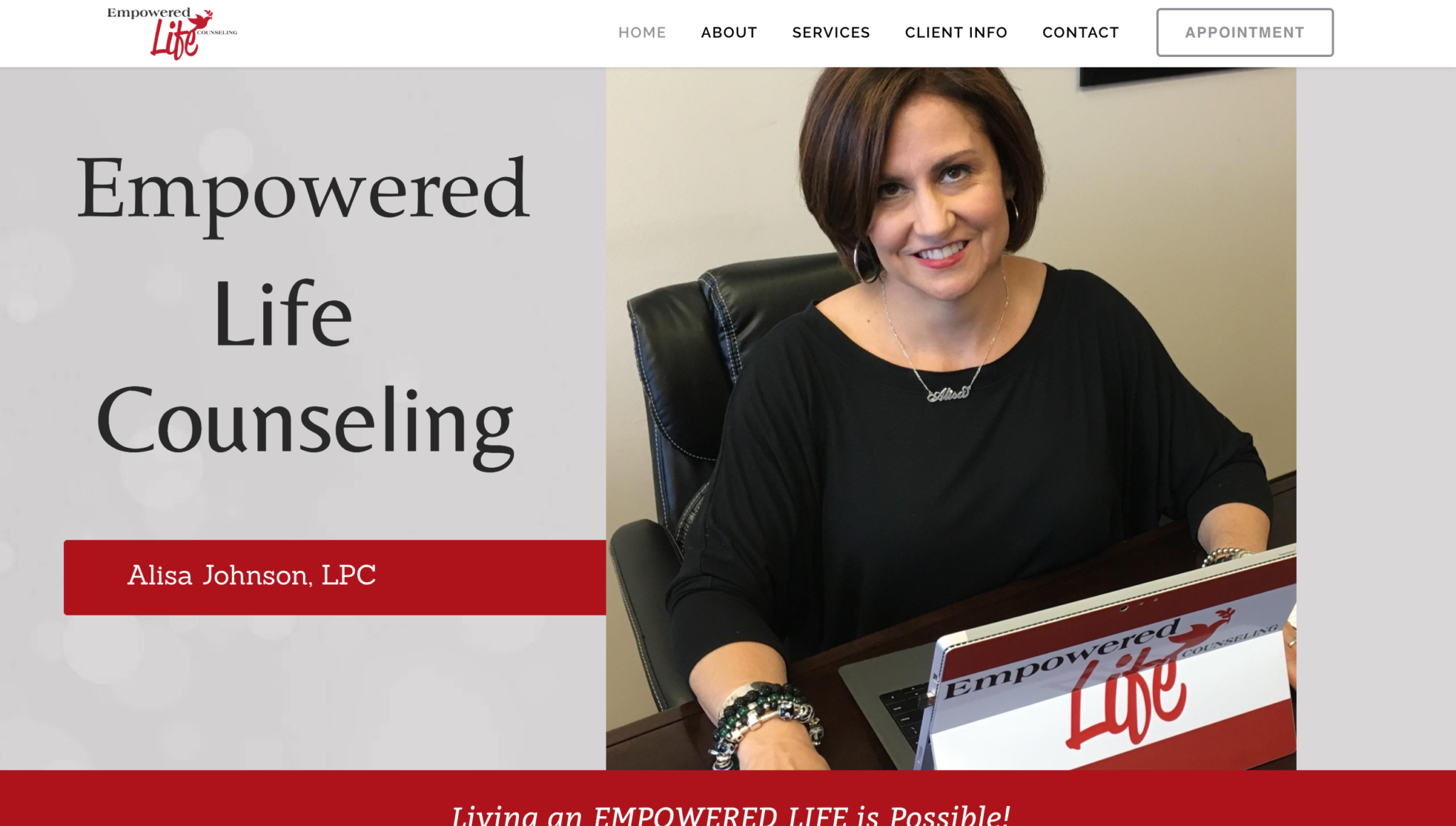 Empowered Life Counseling - McWilliams Media   Web Design   Broken ...