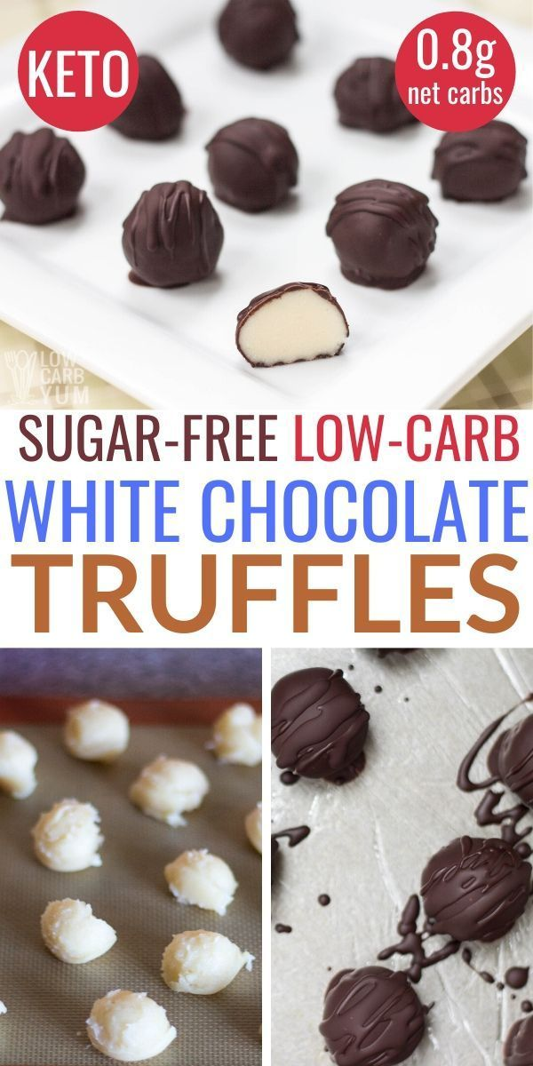 Photo of White Chocolate Sugar Free Truffles – Low Carb