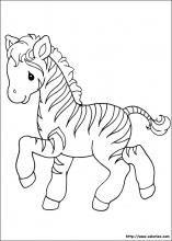 Coloriage Bebe Zebre.Moments Precieux Le Zebre Coloriage Precious Moments