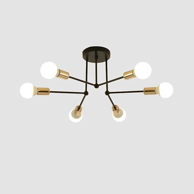 6 light 60 cm flush mount lights metal
