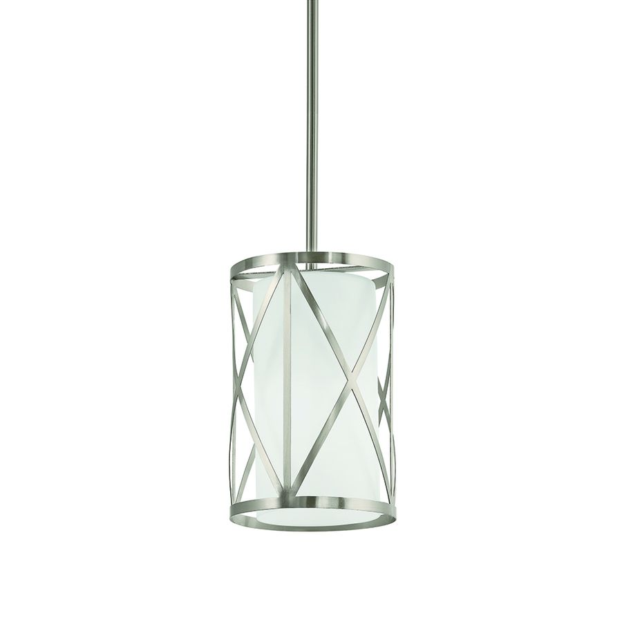 Kichler Lighting Edenbrook 6.46 In Brushed Nickel Mini Cylinder Pendant