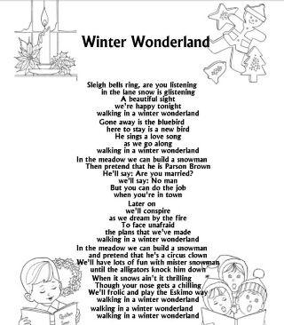 Winter Wonderland Lyrics Christmas Songs Lyrics Merry Christmas Song Christmas Carols Lyrics