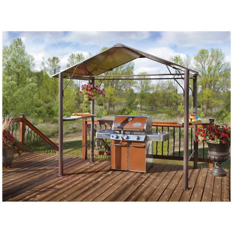 Exterior Illuminated Outdoor Hardtop Grill Gazebo And Home Hardware From Anything About