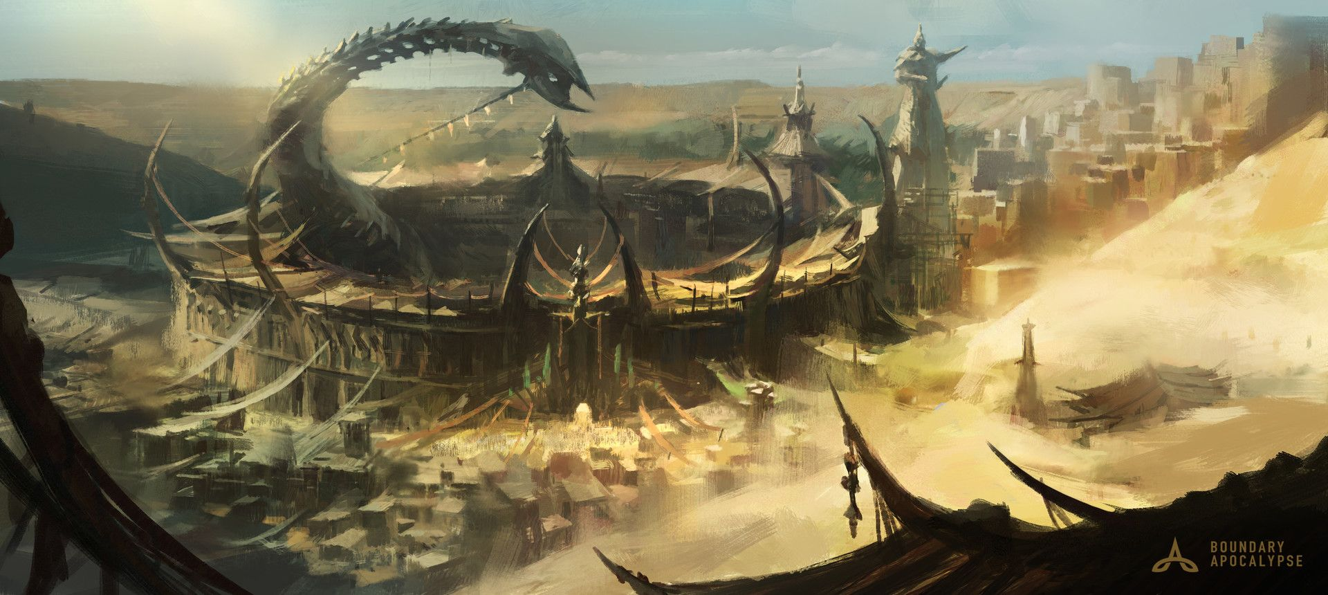 ArtStation - Arena _Story illustration——BOUNDARY APOCALYPSE, D. Rock-Art