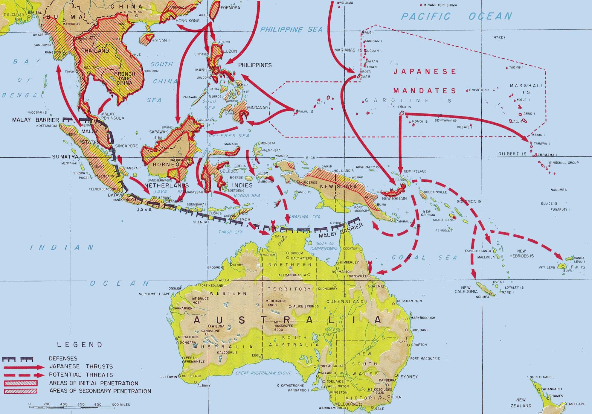 Japanese Advances Across South East Asia And Proposals For Further Actions,  1942