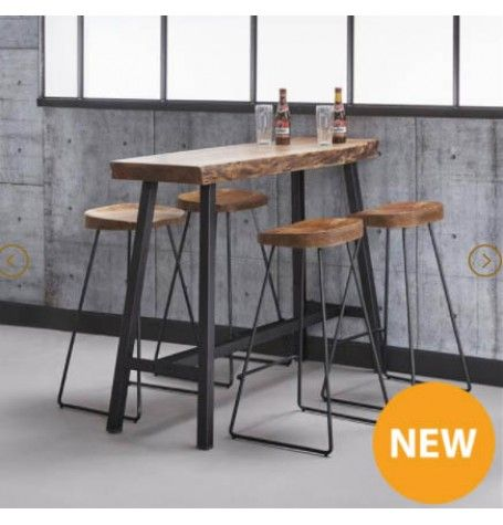 Zi Anders Bar Stool Industrial With Images Kitchen Bar Table Bar Table Design Bar Table