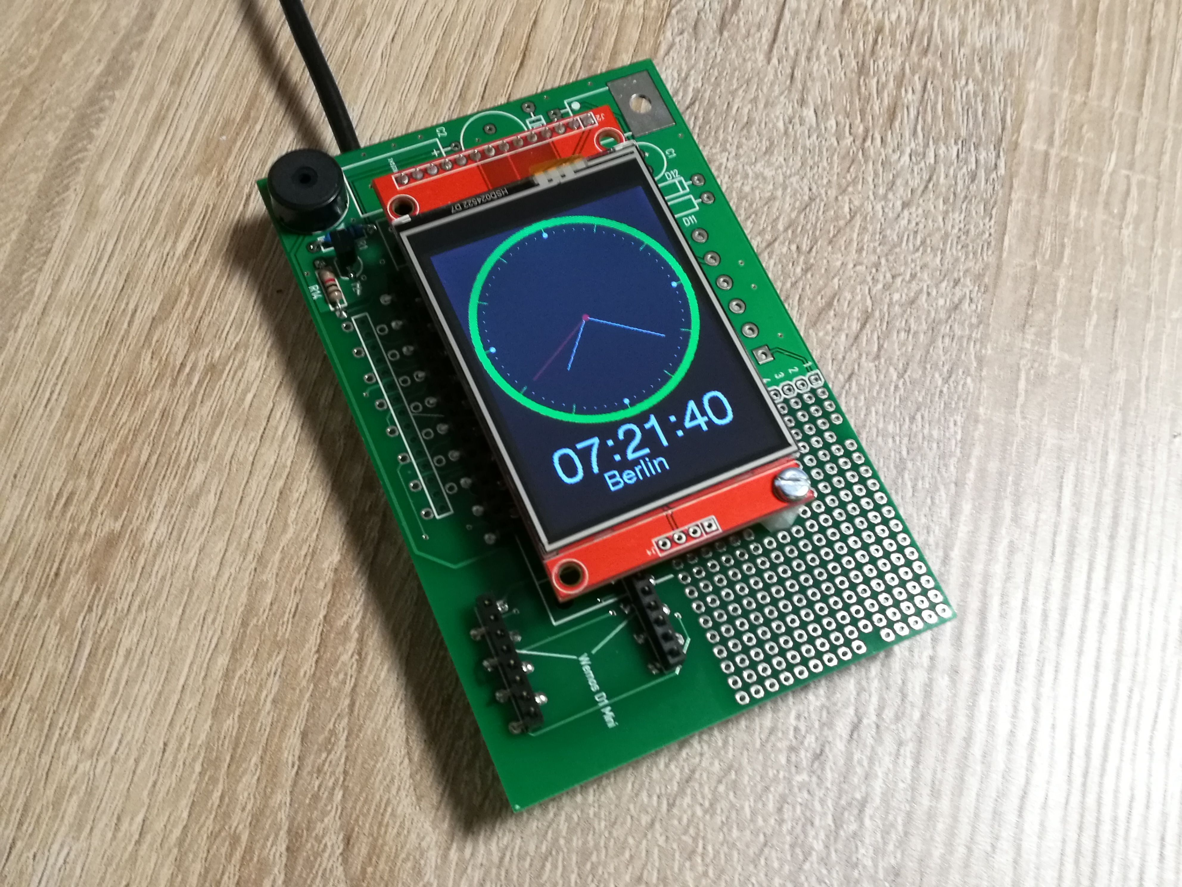 Esp8266 Internet Clock With Arduitouch And Wemos D1 Mini Arduino Entwicklung Vertrieb