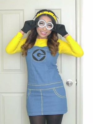 DIY Makeup for a Purple or Yellow Minion Look