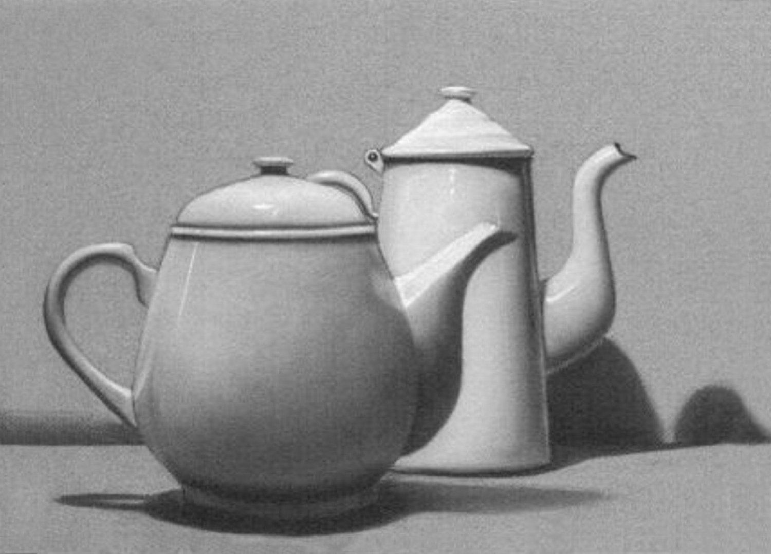 Hand made Pencil Graphite Drawing Still Life on 18x24