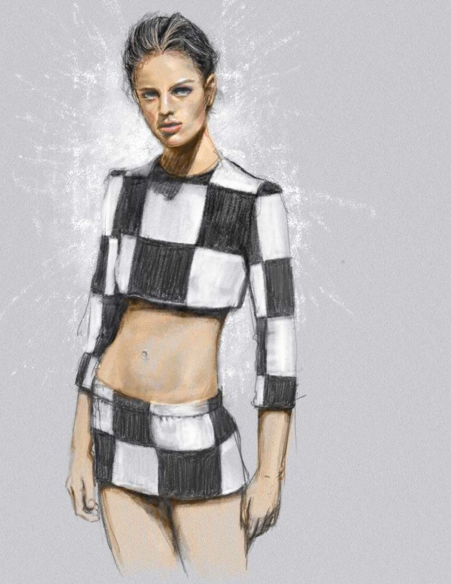Louis Vuitton S/S 2013 by Kasia Rei Illustration.Files: My Girl in LV | Draw A Dot.