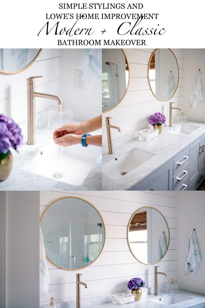 Our Master Bathroom Renovation Reveal Pinterest Modern Classic - Classic bathroom renovations