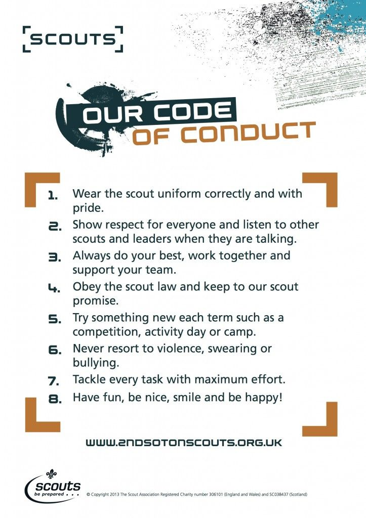 scout code of conduct - Google Search Cubscouts Pinterest - code of conduct example