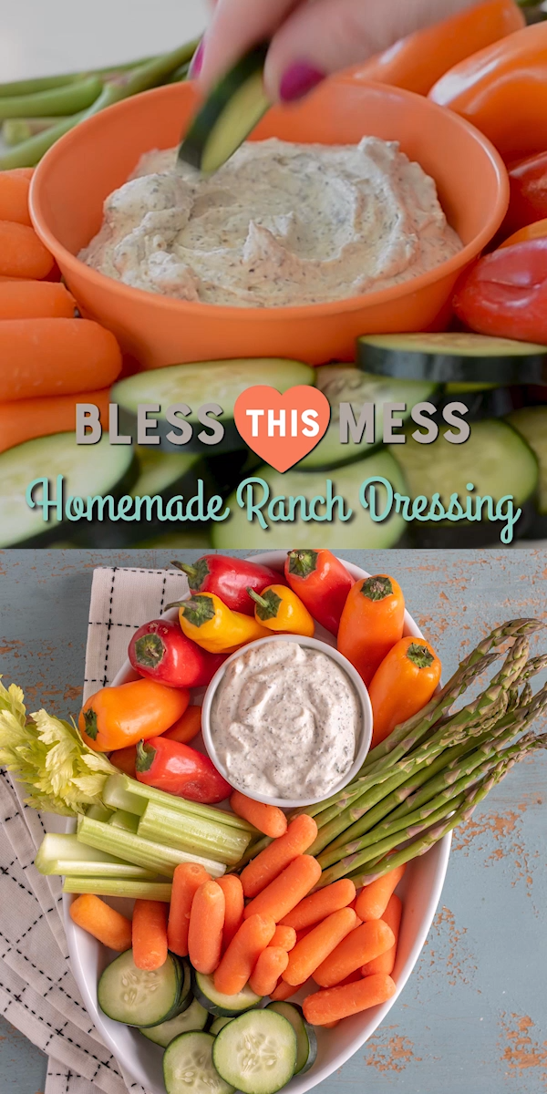 My favorite ranch mix recipe made from dried herbs and perfect of making ranch dip and ranch dressing. #ranchmix #homemaderanch #homemadedressing #saladdressing
