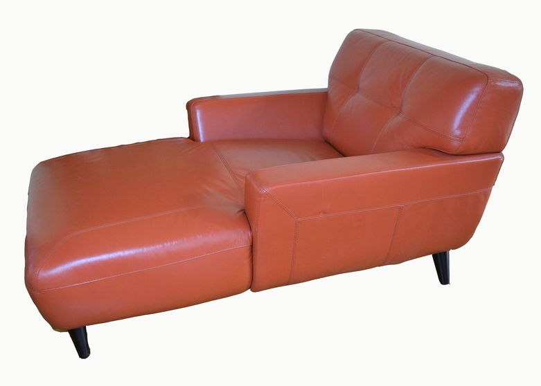 Chateau D Ax Orange Leather Chair Leather Chair Leather Chaise