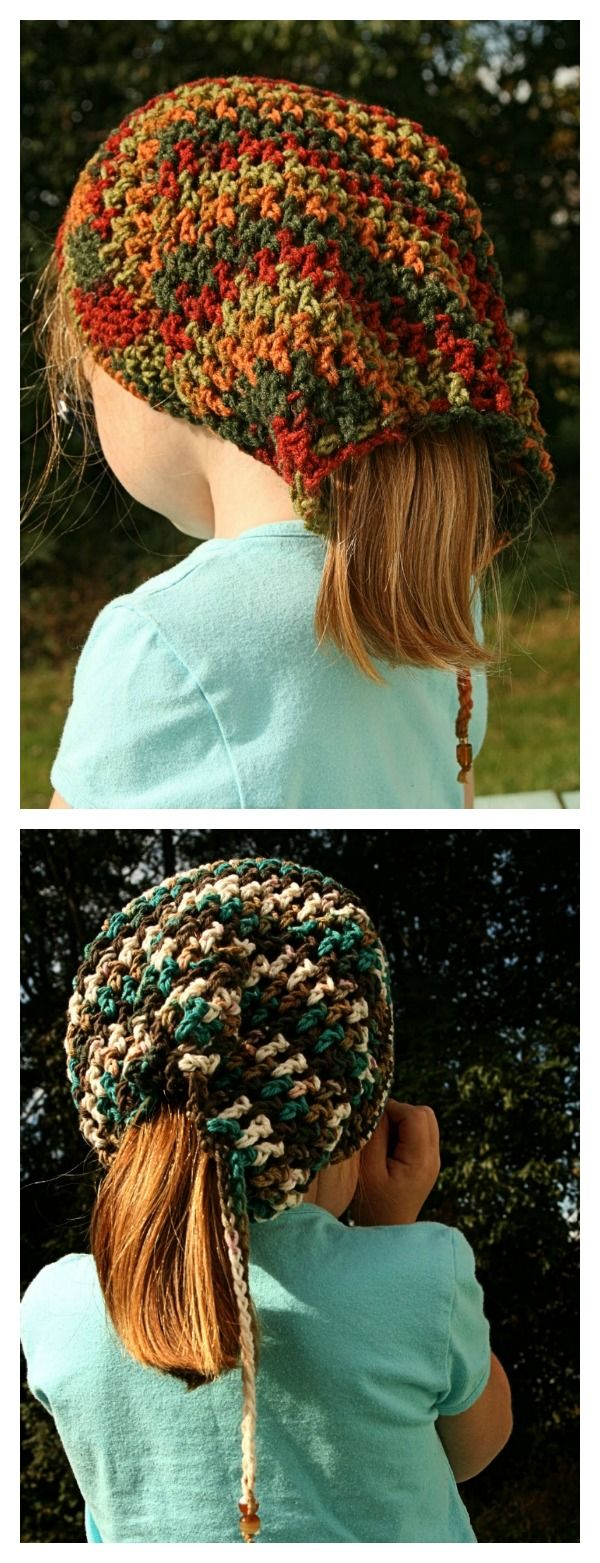 Crochet Ponytail Hat Free Patterns | Free pattern, Crochet and Patterns