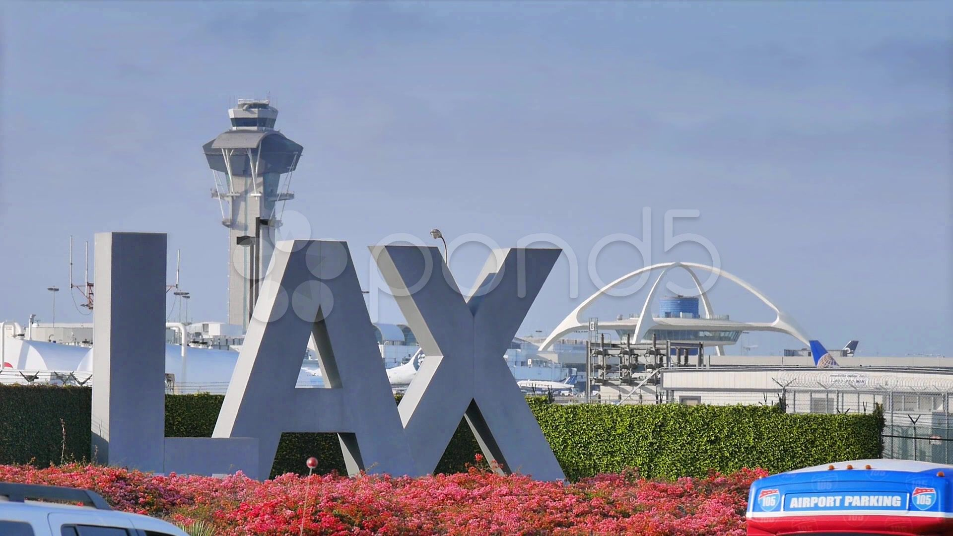 Lax Airport Sign In Los Angeles Stock Footage Sign Airport Lax Los Airport Signs Building Signs Los Angeles
