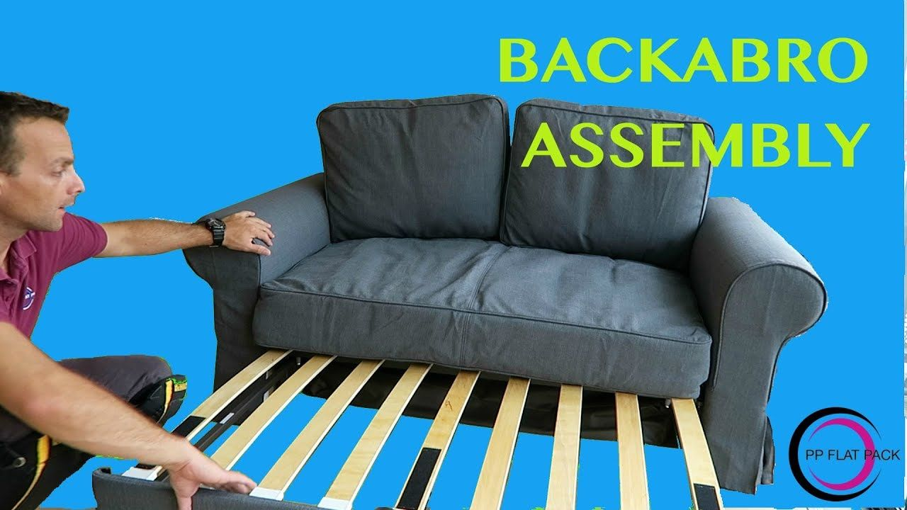 Ikea Two Seat Sofa Bed Assembly Backabro Pp Flat Pack Pinterest