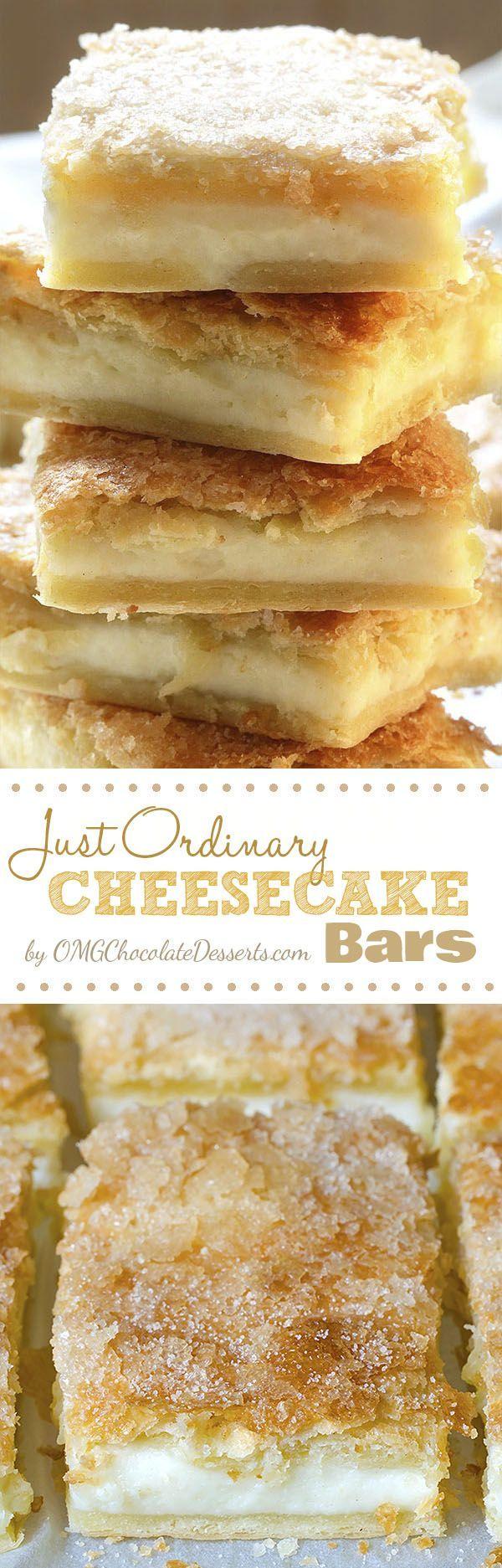 Just Ordinary Cheesecake Bars Recipe Dessert Recipes Dessert Bars How Sweet Eats