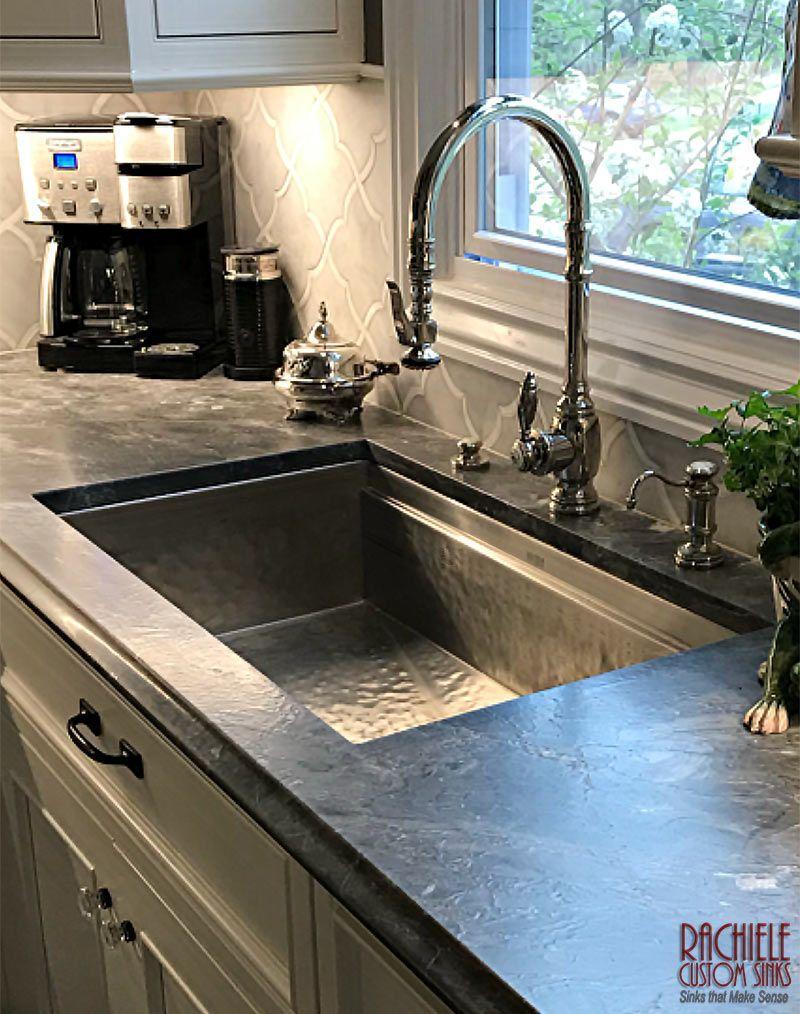 Custom Hand Hammered Stainless Sink In 2020 Kitchen Design Steel Kitchen Sink Stainless Steel Sinks