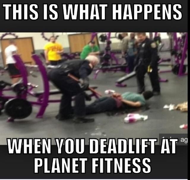 And this is why I don't work out at planet fitness! LOL