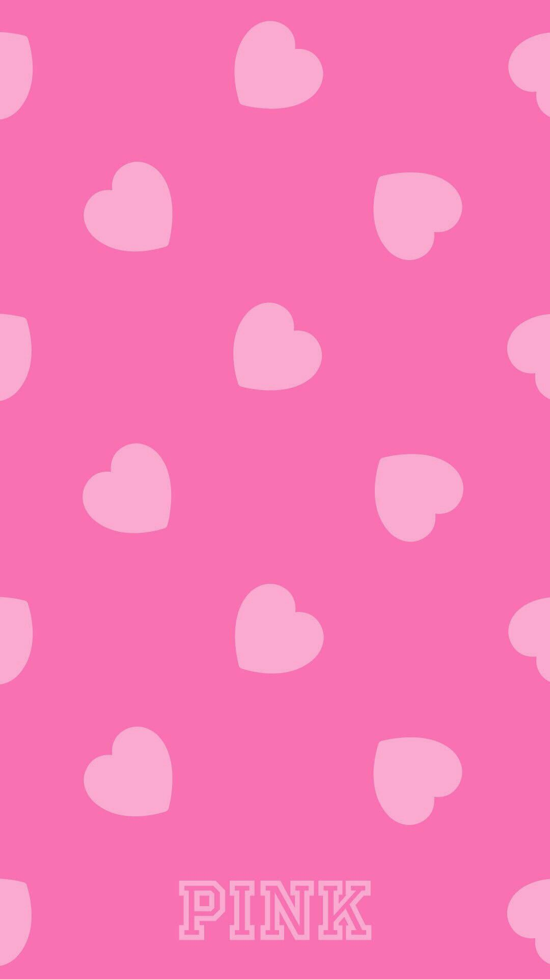 Pink Hearts Pink Wallpaper Girly Phone Wallpaper Pink Pink