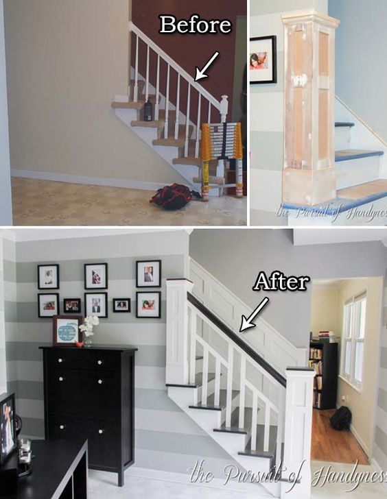 20 Inexpensive Ways to Dress Up Your Home with Molding #staircaseideas