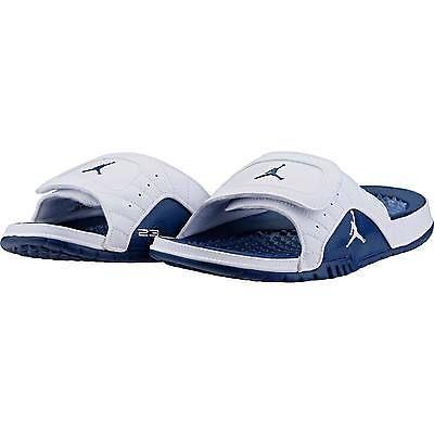 size 40 97746 2ffef Nike Jordan Hydro 12 XII Retro Mens 820265-107 White French Blue Sandals  Size 15