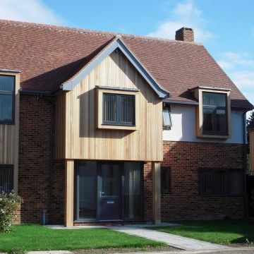 Western Red Cedar Cladding Used As Panelling On House Cedar Cladding Brick Cladding Timber Cladding
