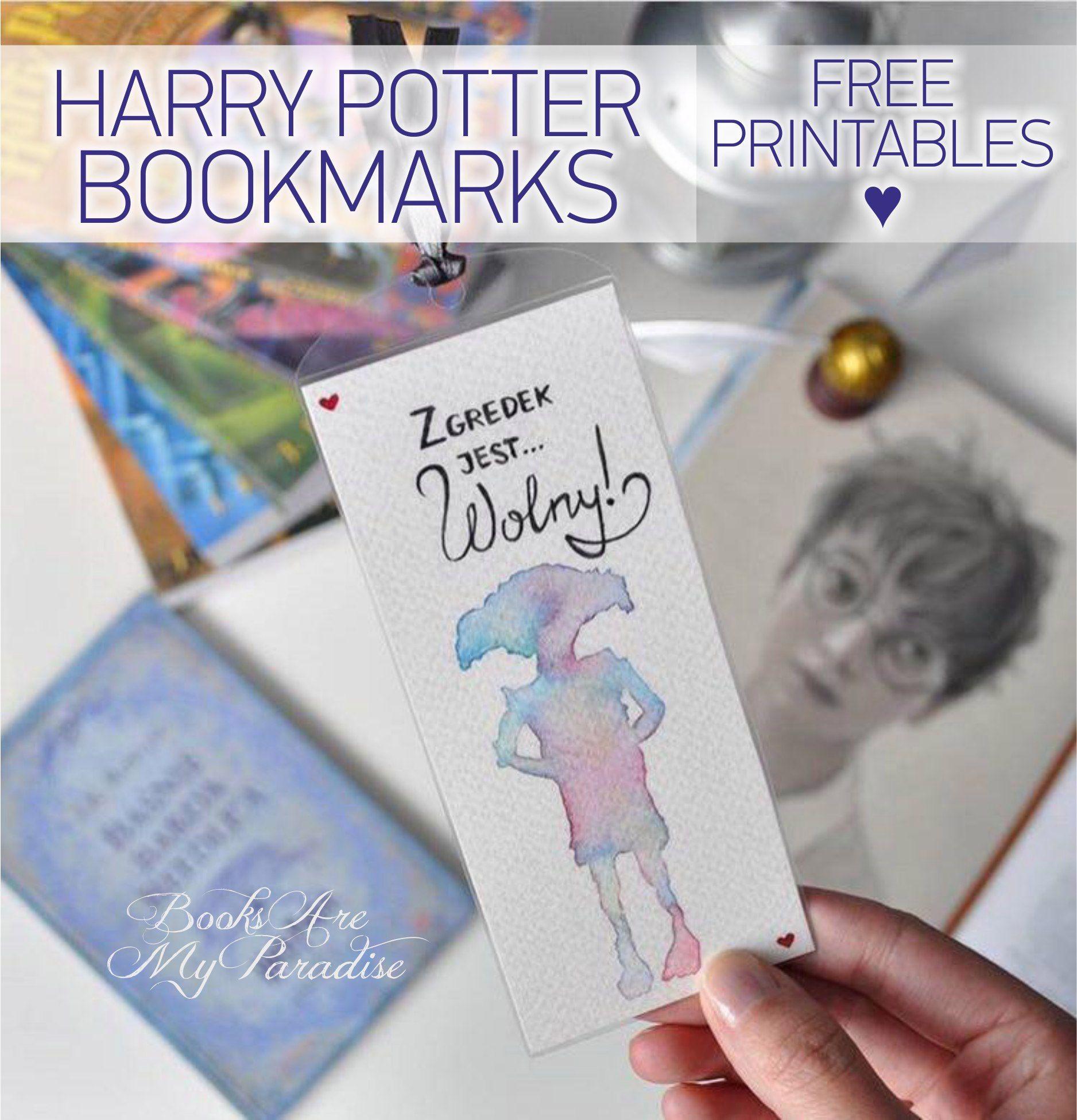 Harry Potter V.1 Bookmarks // FREE Printables