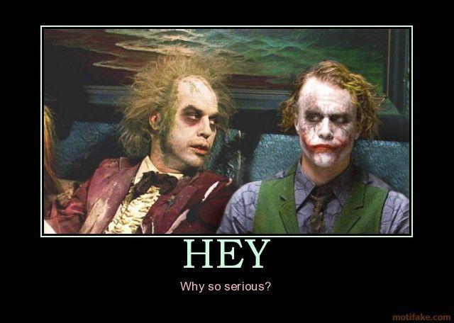 Beetlejuice meets The Joker.