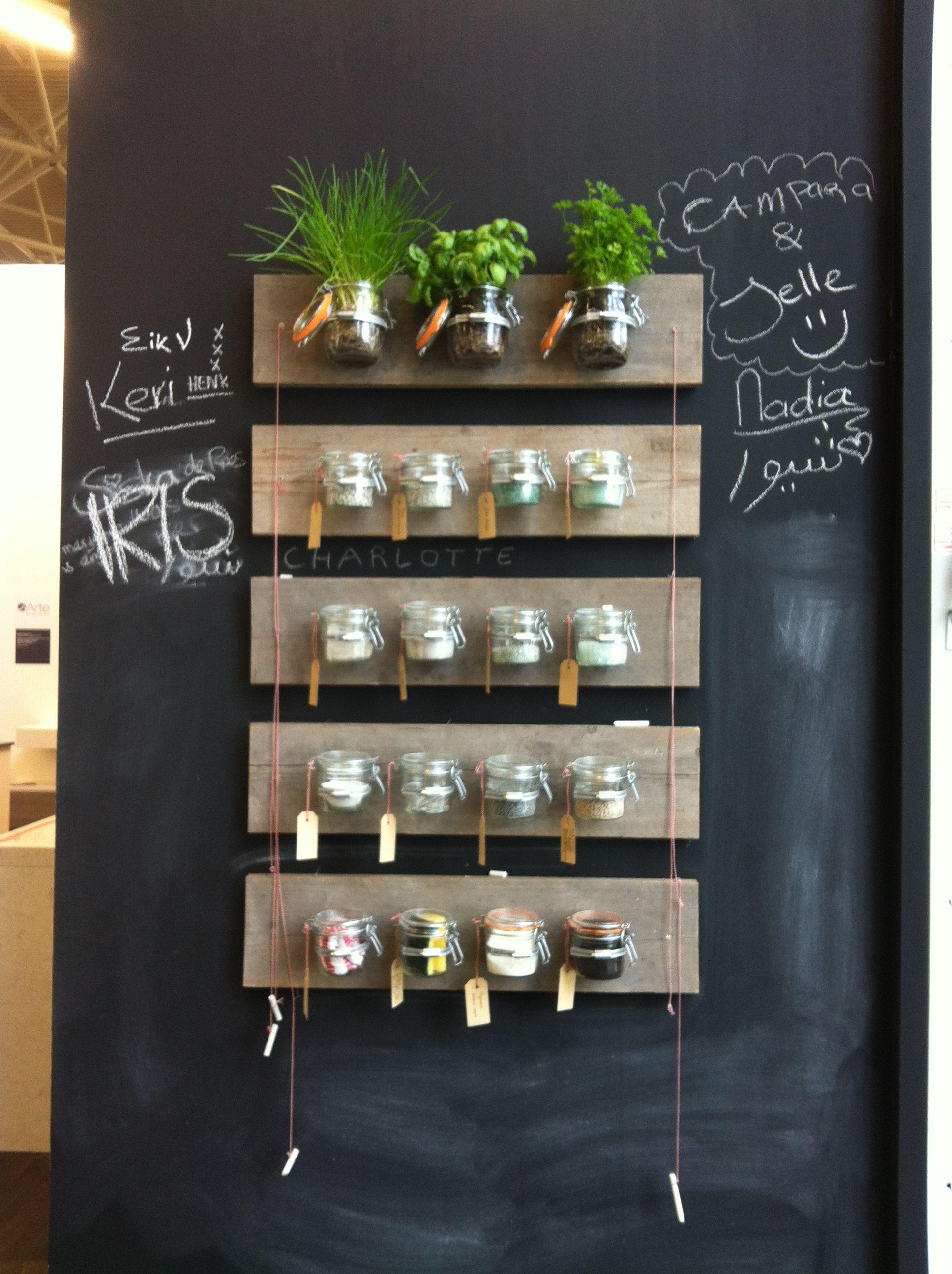 Zelfmaak kruidenrek | Woonbeurs 27-09-2012 | Pinterest | Brocante ... | {Küchendeko 11}