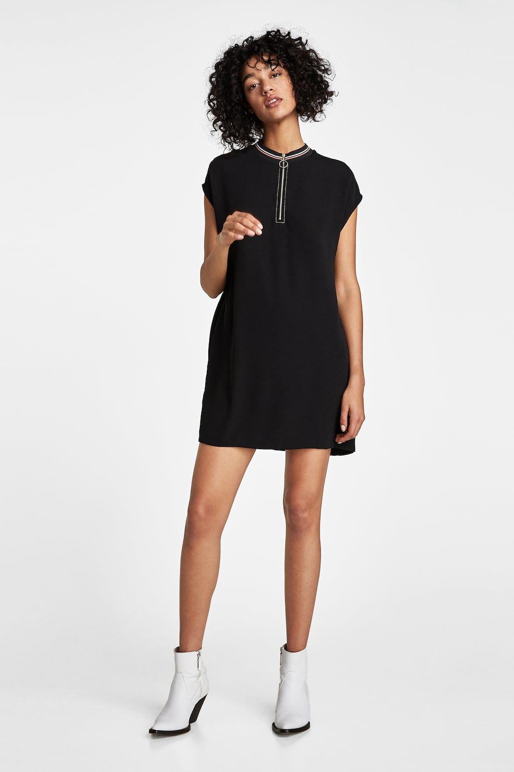 Imagen 1 de VESTIDO RIB PESPUNTES CONTRASTE de Zara | ropa