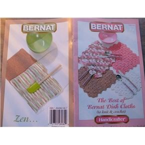 Bernat 530141 Knit & Crochet patterns the Best of Bernat dish cloths
