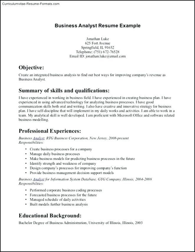 Resume Examples Business Management Resume Examples Pinterest - Example Of A Resume Summary