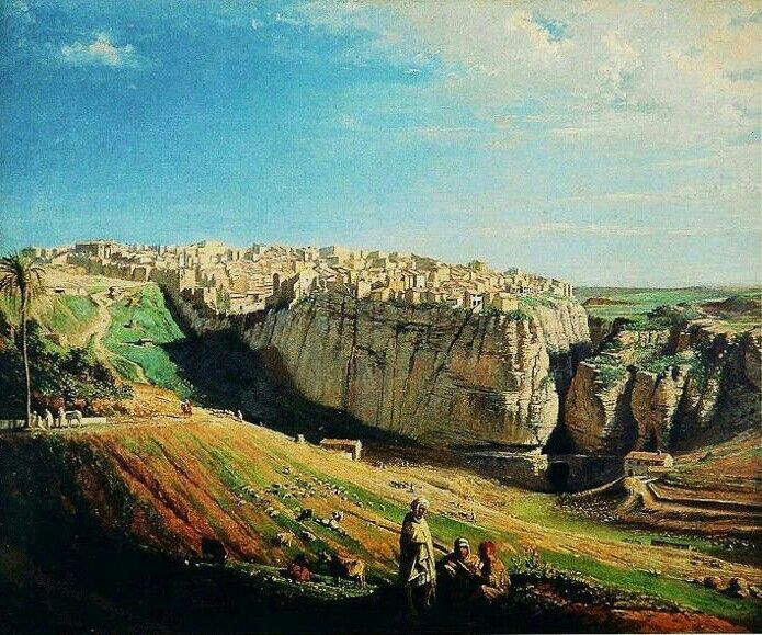 Peinture d 39 alg rie peintre fran ais emmanuel joseph - Peinture satinee algerie ...