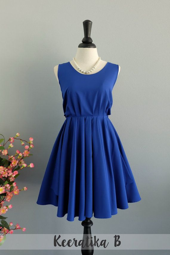 Royal blue prom dress bridesmaid dress royal blue party dress ...