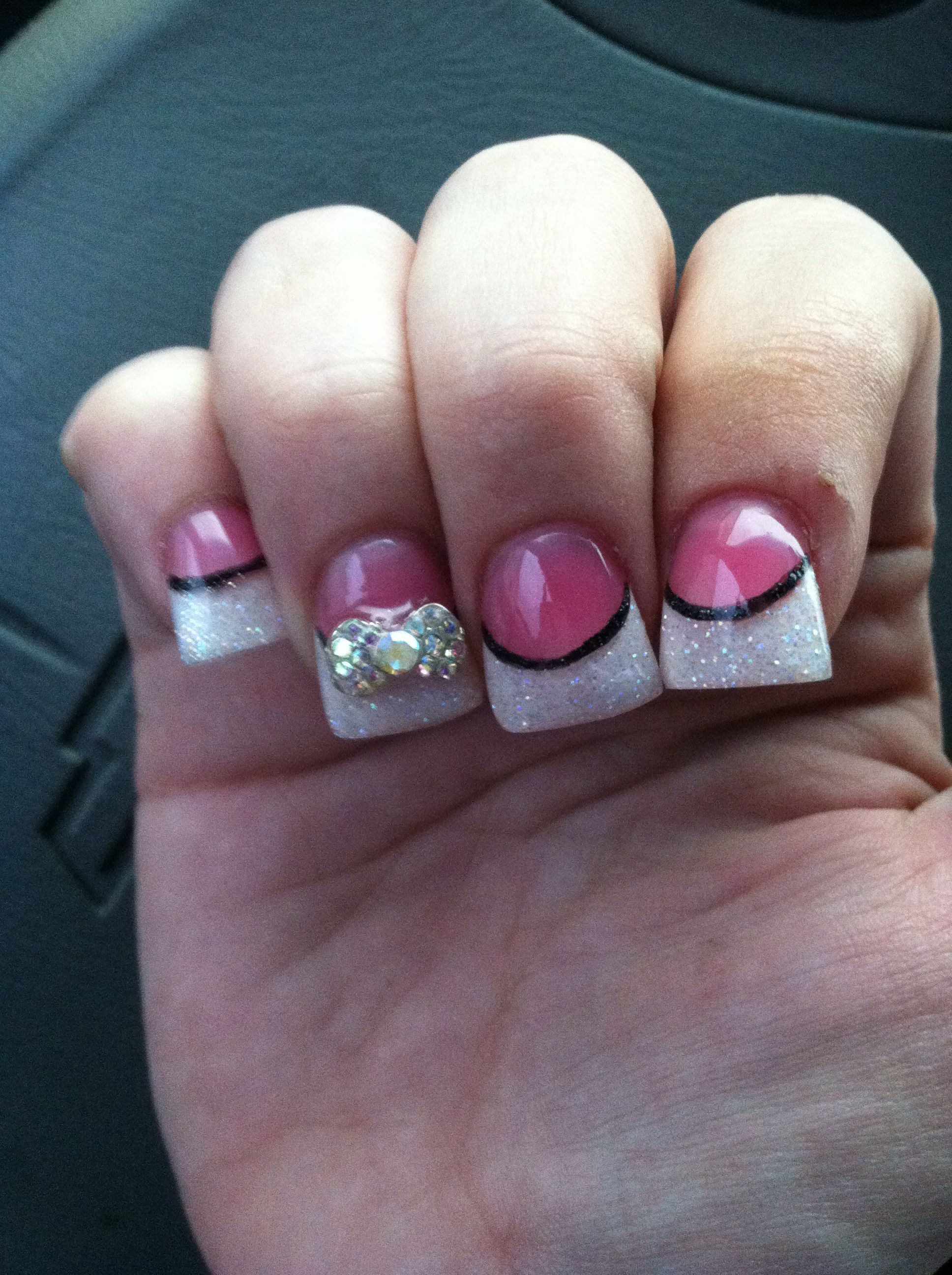 Pin By Cassondra Kight On My Style Flare Acrylic Nails Flare Nails Short Square Acrylic Nails