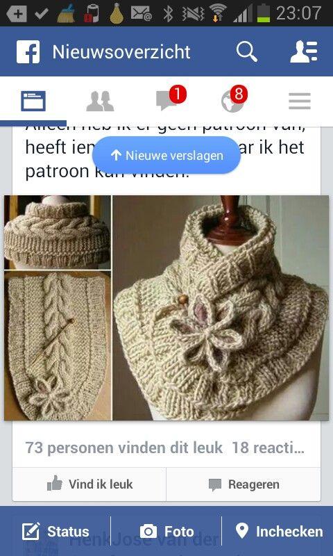 Mooi plaatje van een sjaal. Via fb