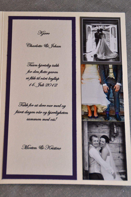 bryllup takkekort tekst