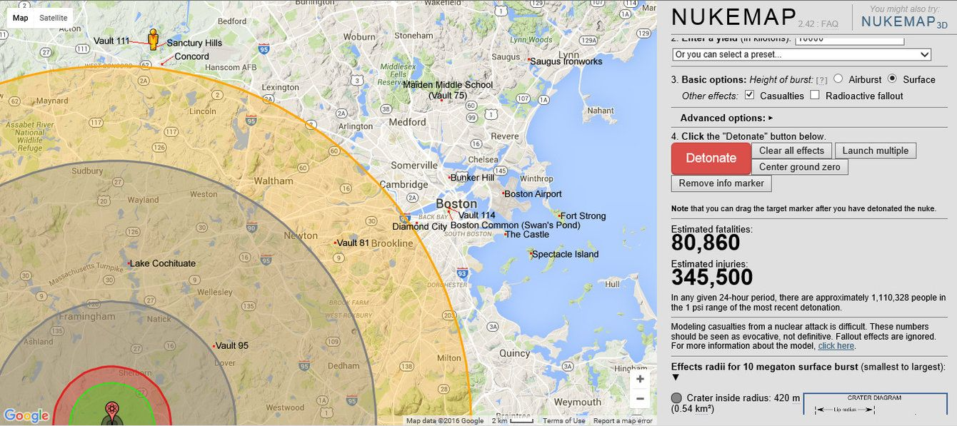 Fallout 4 locations on real-world map of boston by ...