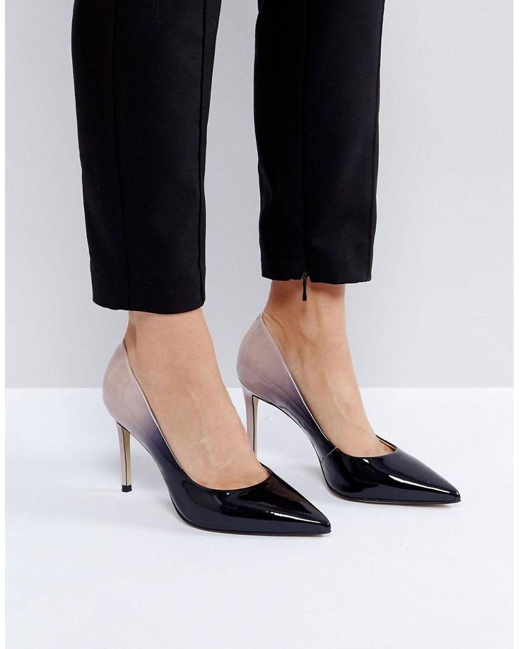 aeae36a735b Women's Black Alison Ombre Patent Court Shoes | Fashion fix | Shoes ...