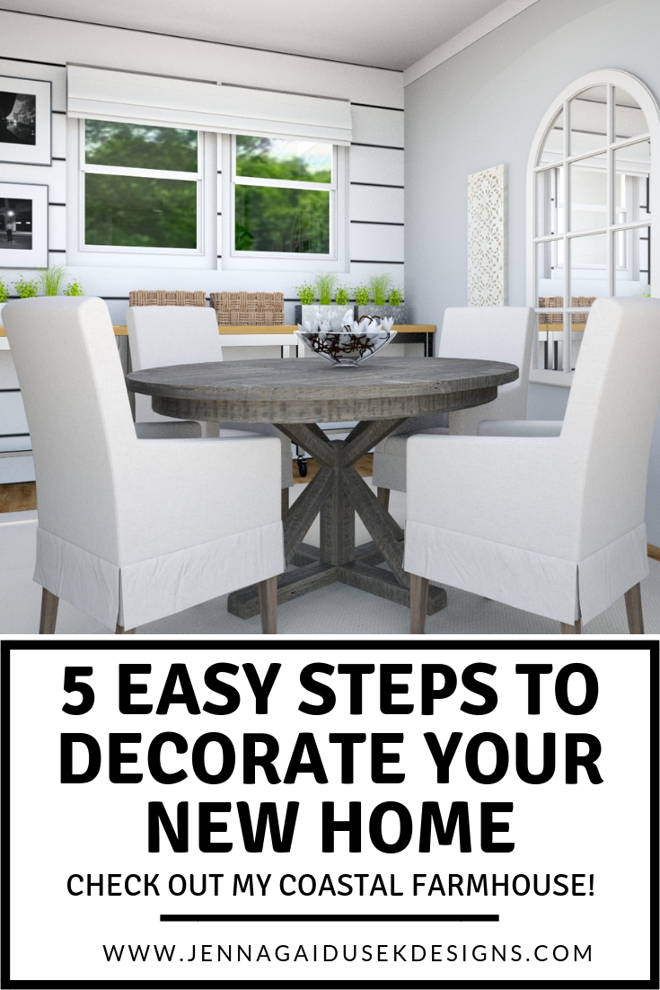 5 Easy Steps to Decorate Your New Home | Interior design ...